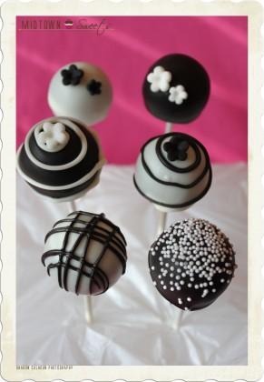 Modern Black & White Cake Pops