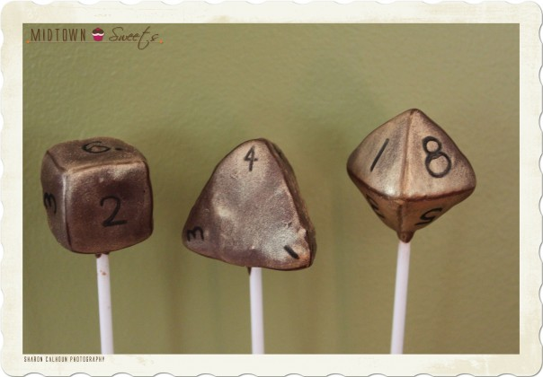 RPG Dice Cake Pops