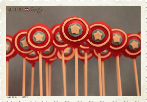 Captain America Cake Pops