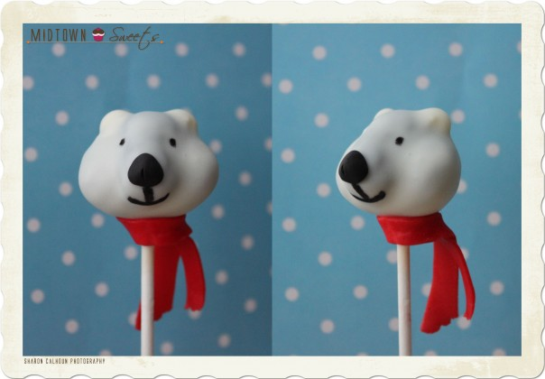 Coke Polar Bear Cake Pop