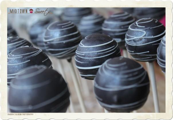 Black Satin Cake Pops