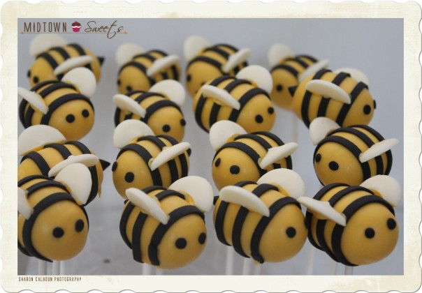 Midtownsweets.com Fondant Bees Cake Pops