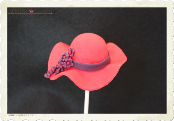 Red Hat Society Cake Pop