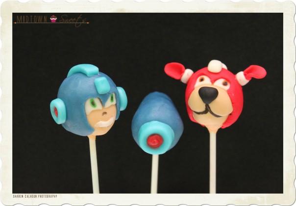 Megaman Cake Pops