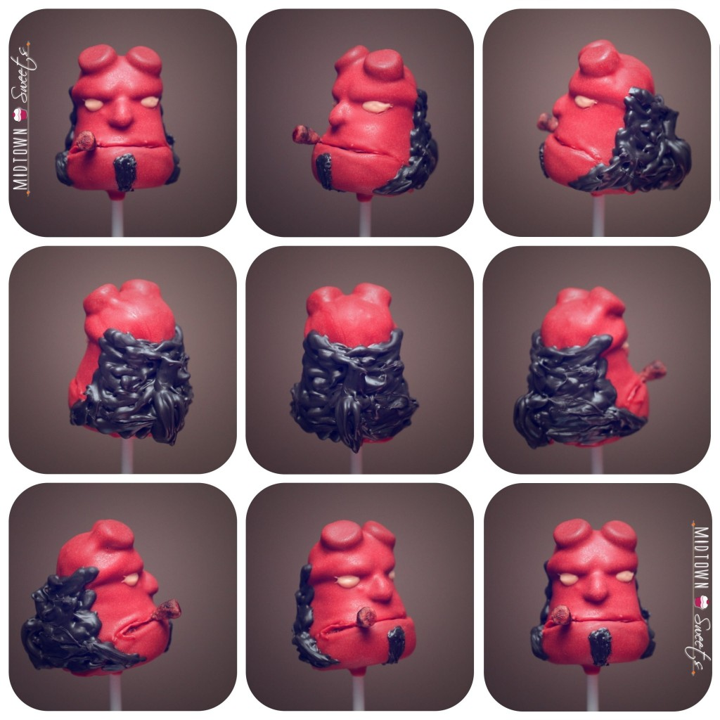 Hellboy Cake Pops